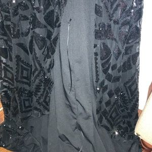 A&N Luxe Label Dresses - Black Sequin Gown For Wedding or Prom